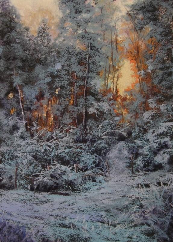 """Snow Day 2"" original fine art by Ruth Mann"