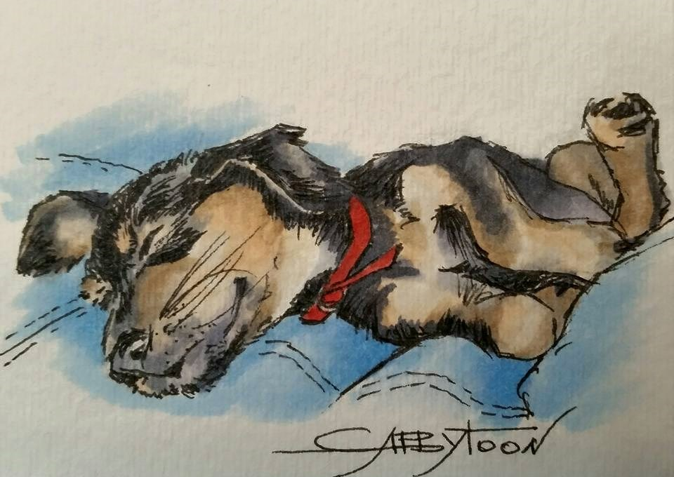 """Sleeping Beauty(ACEO)"" original fine art by Gabriella DeLamater"