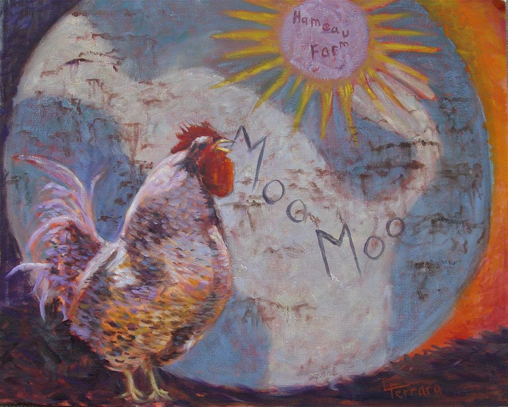 """Sunrise Serenade"" original fine art by Lina Ferrara"