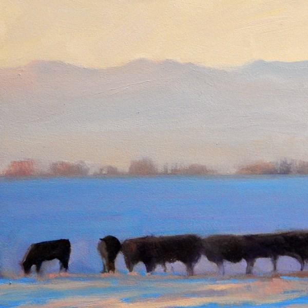 """Winter Herd"" original fine art by Carolyn Caldwell"