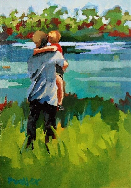 """Priceless"" original fine art by Laurie Mueller"
