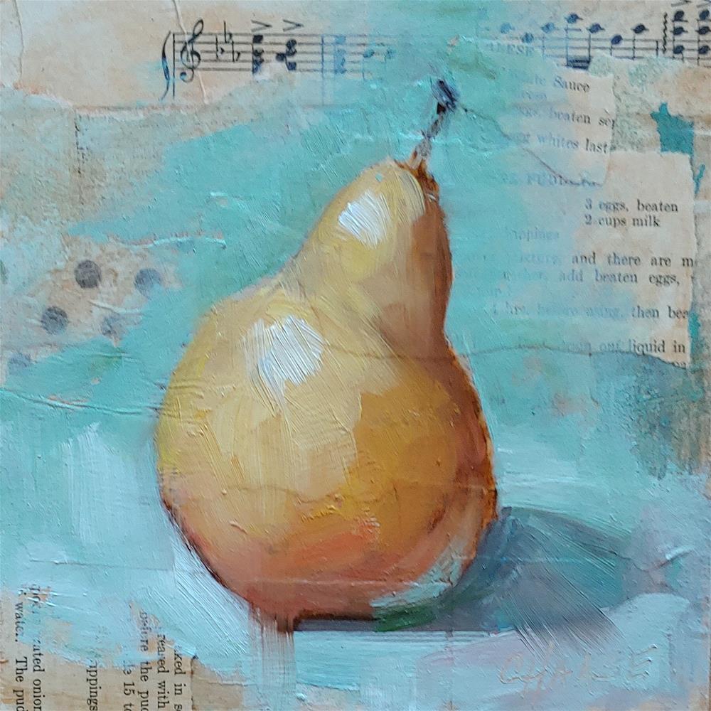 """Pear 523"" original fine art by Cindy Haase"