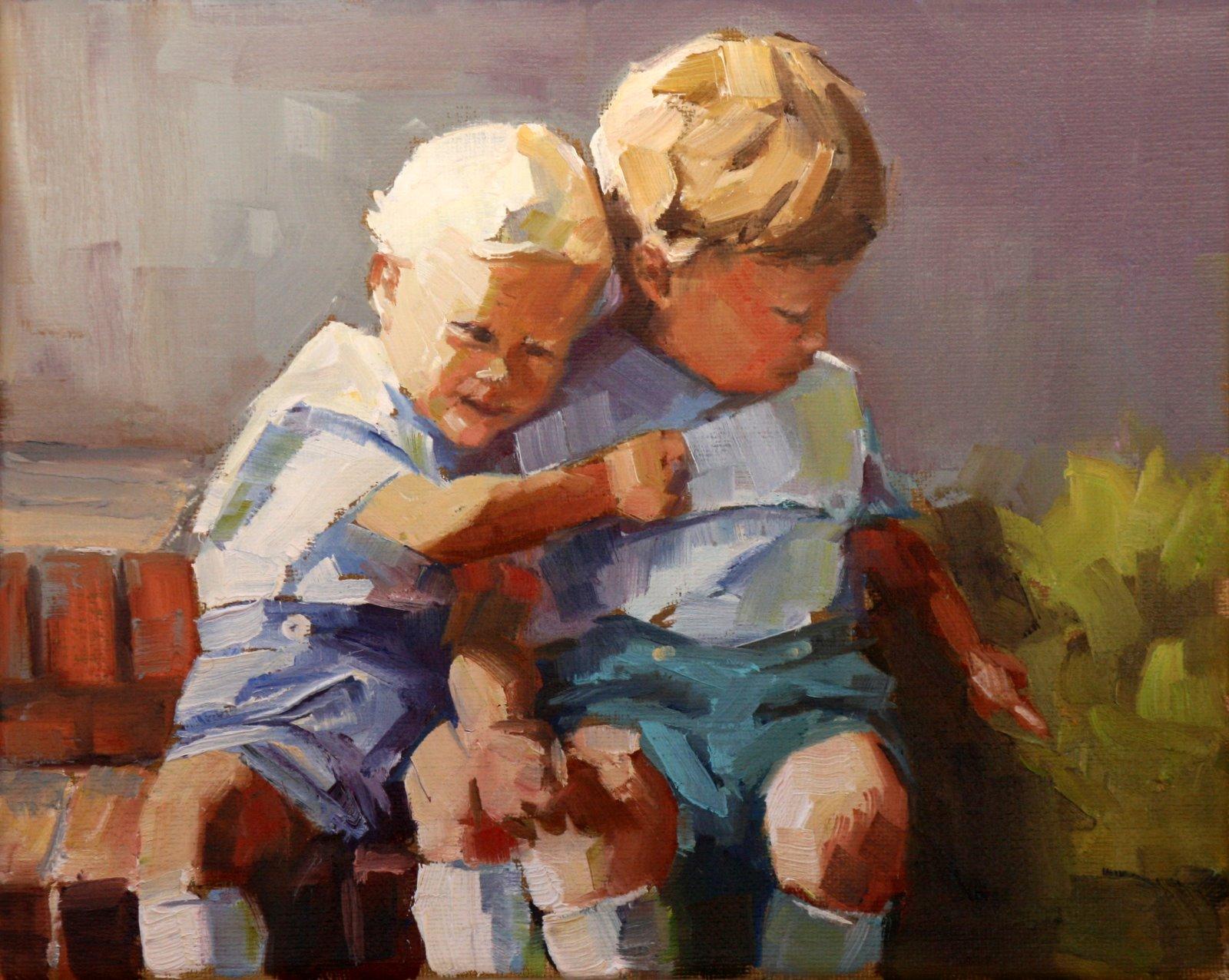 """two of mine"" original fine art by Carol Carmichael"
