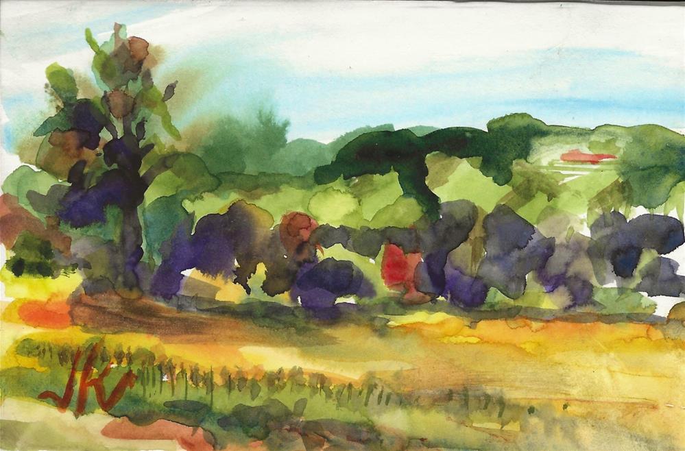 """""""Engelke Farm, Study"""" original fine art by Jean Krueger"""