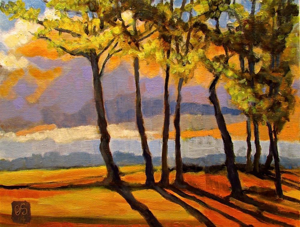 """""""Dinner Light in the Glade"""" original fine art by Aurelio Saiz"""