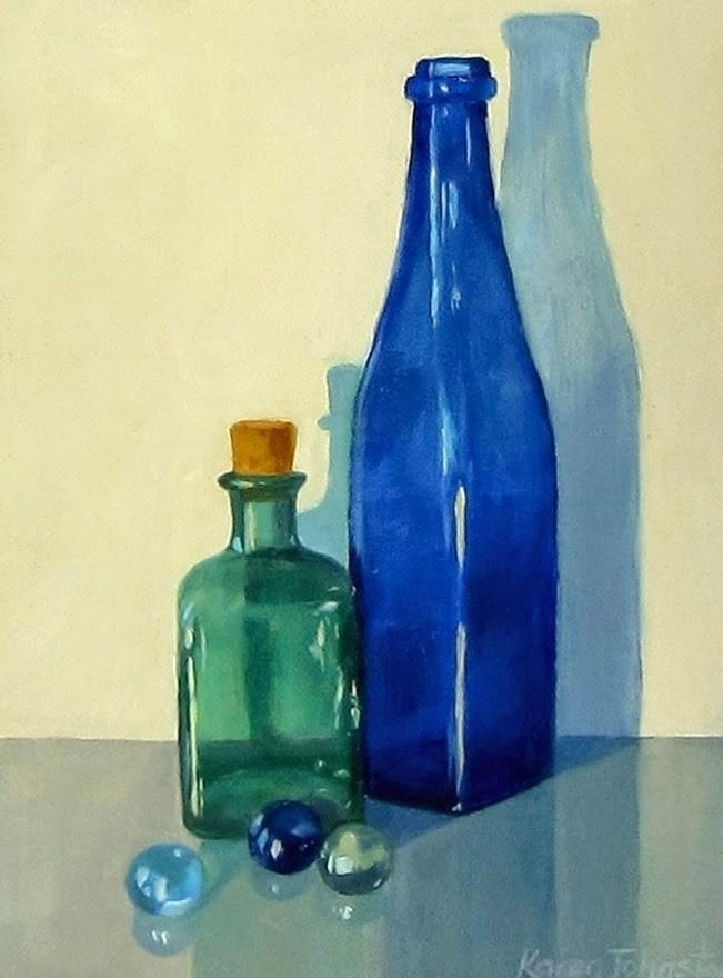 """It's All About Glass"" original fine art by Karen Johnston"