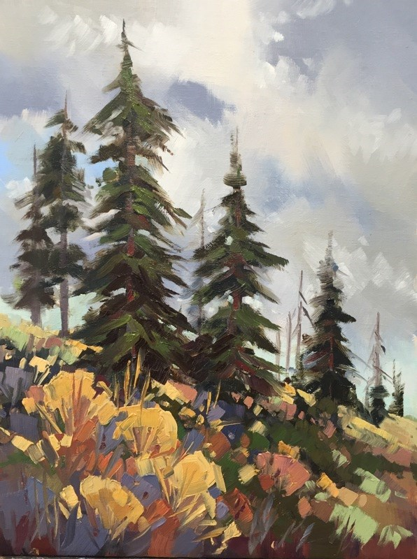 """""""Autumn Storms"""" original fine art by Mary Jabens"""
