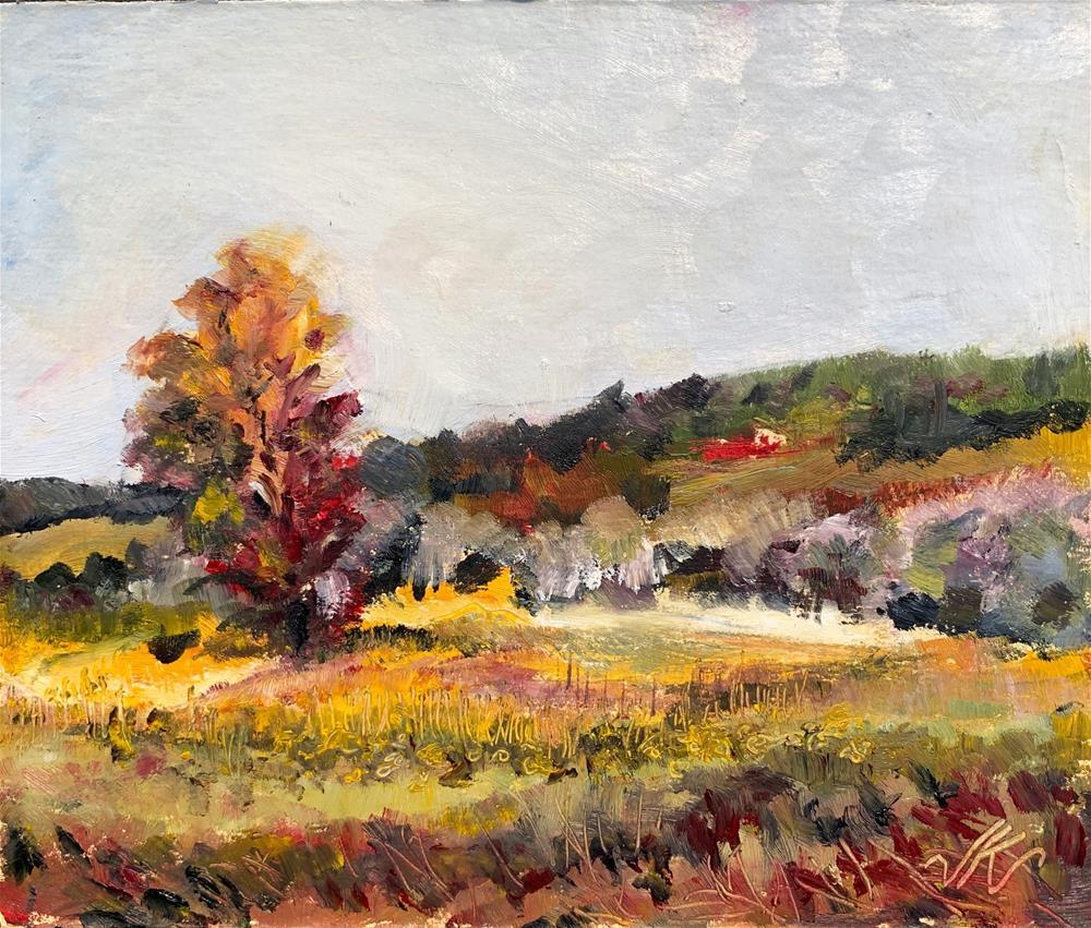 """""""Engelke Farm, Eagle Mills, NY"""" original fine art by Jean Krueger"""