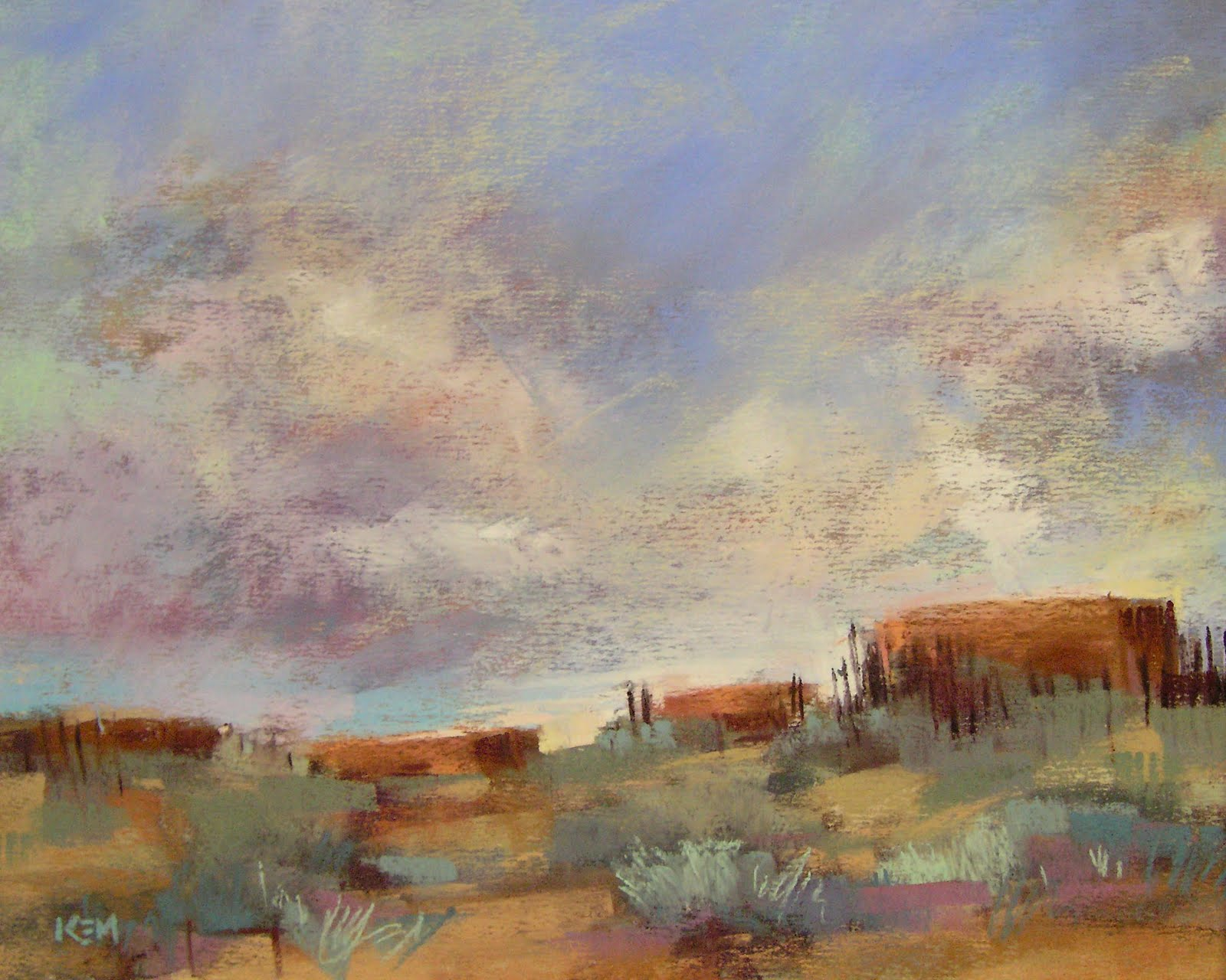 """After the Rain, Taos New Mexico Landscape"" original fine art by Karen Margulis"