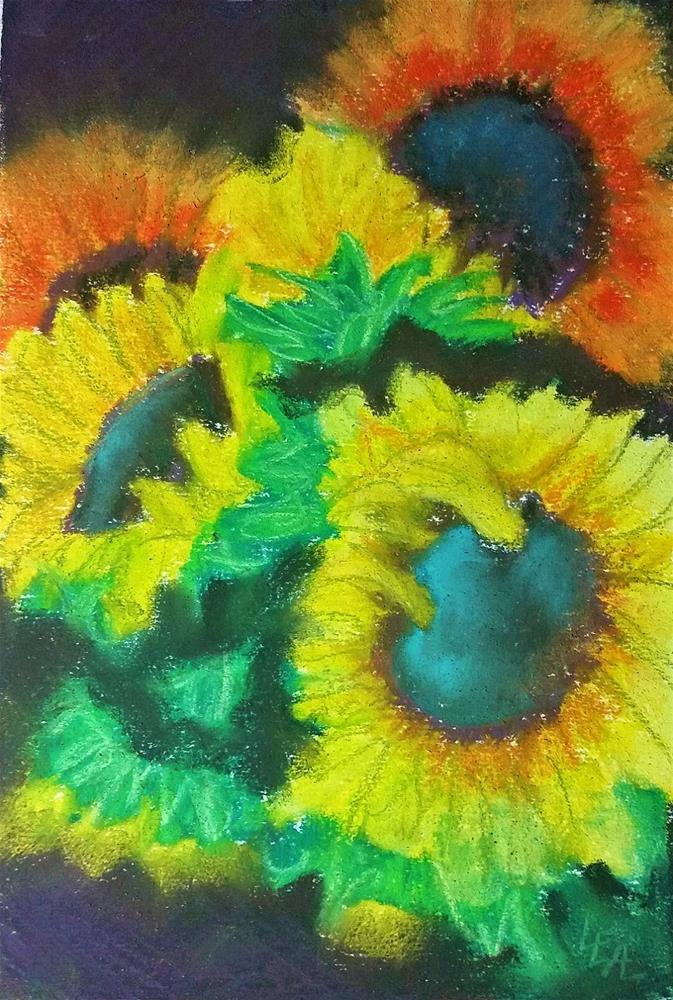 """Flowers of the Sun"" original fine art by Anna Lisa Leal"