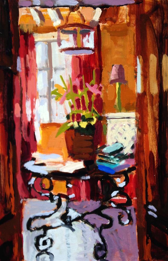 """Marigold Yellow Walls"" original fine art by Pamela Hoffmeister"