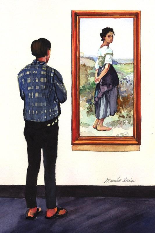 """Bouguereau & Young Man"" original fine art by Mariko Irie"
