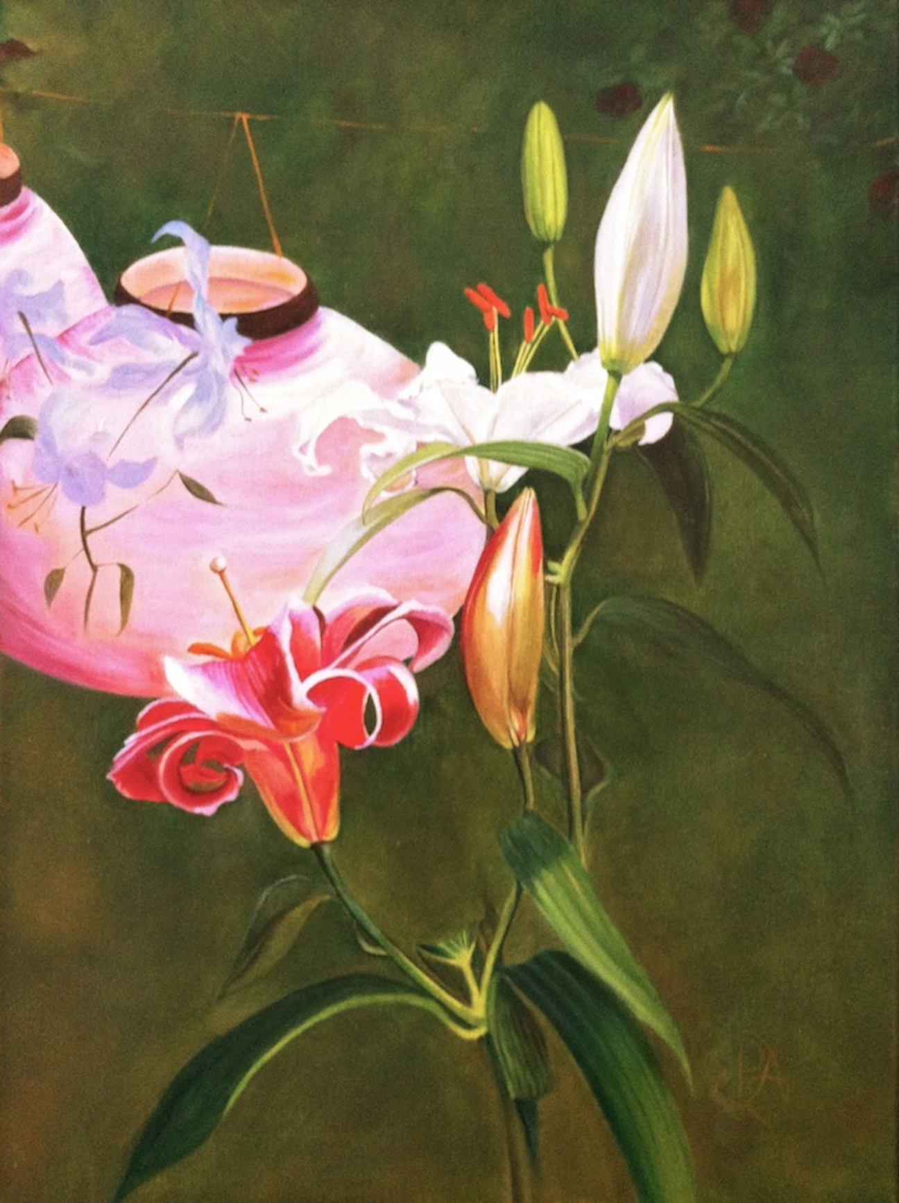 """""""Lily, Lily, Rose: A Tribute to Mr. Sargent"""" original fine art by Patti Adams"""