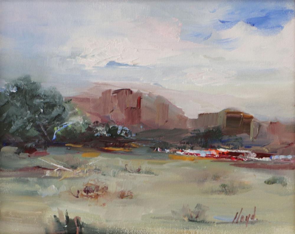 """""""Ranch on Apache Trail"""" original fine art by Diane Lloyd"""