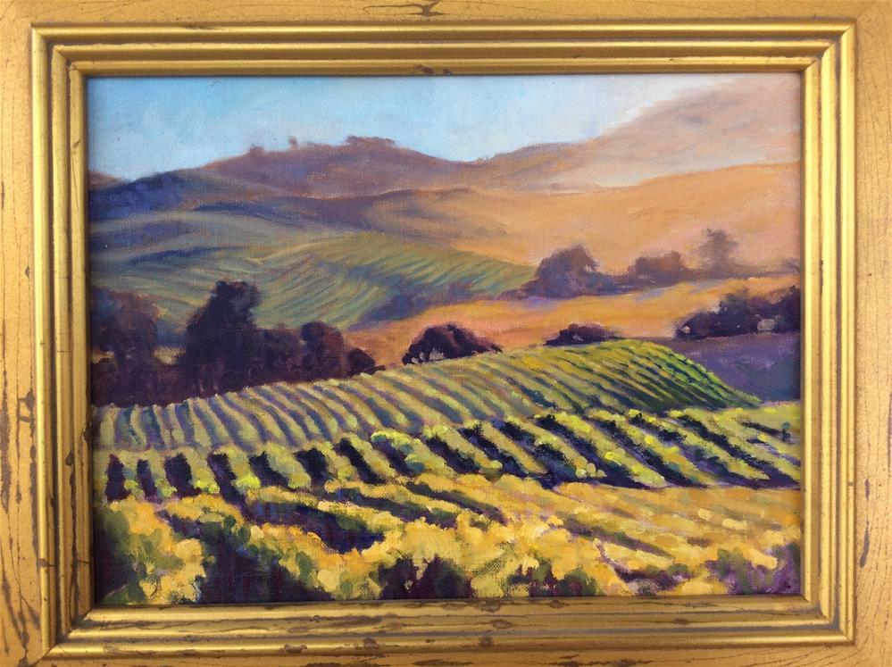 """Wine glow"" original fine art by Leigh Alexandra Sparks"