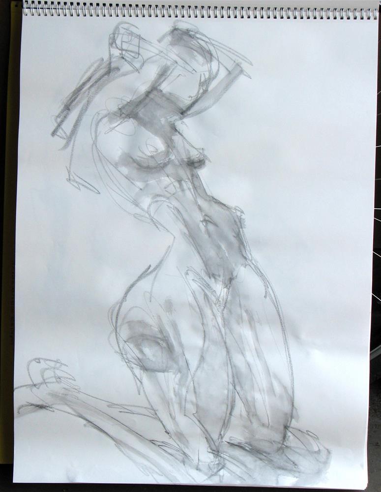 """gesture 3"" original fine art by jeffrey kasbohm"
