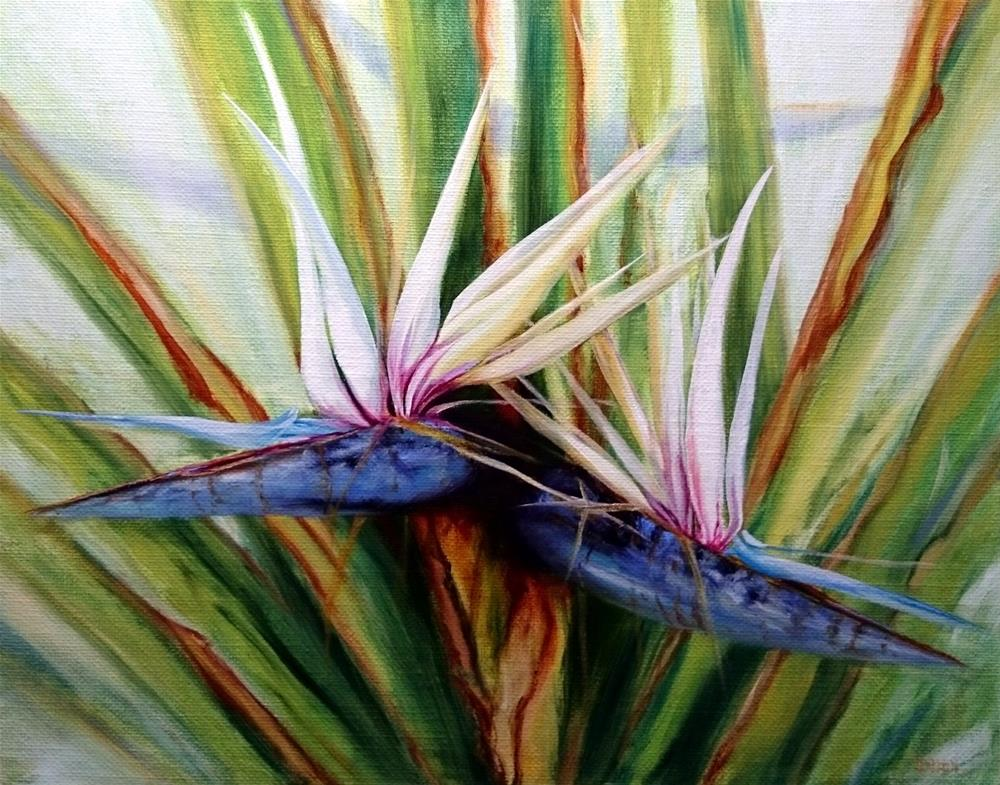 """White Birds Of Paradise"" original fine art by Dalan Wells"
