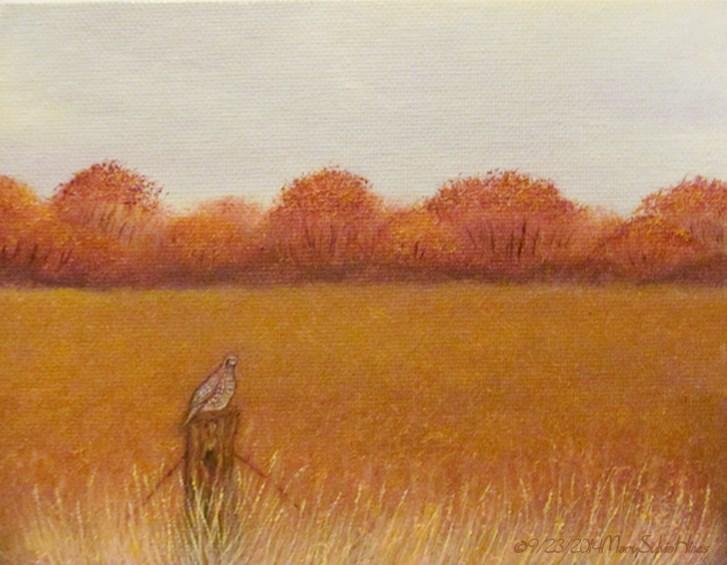 """Landscape Mini05"" original fine art by Mary Sylvia Hines"