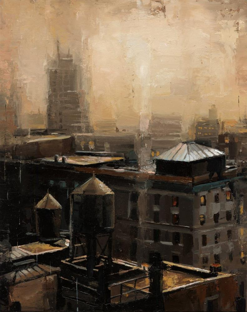 """""""NYC Rooftop"""" original fine art by Victor Bauer"""