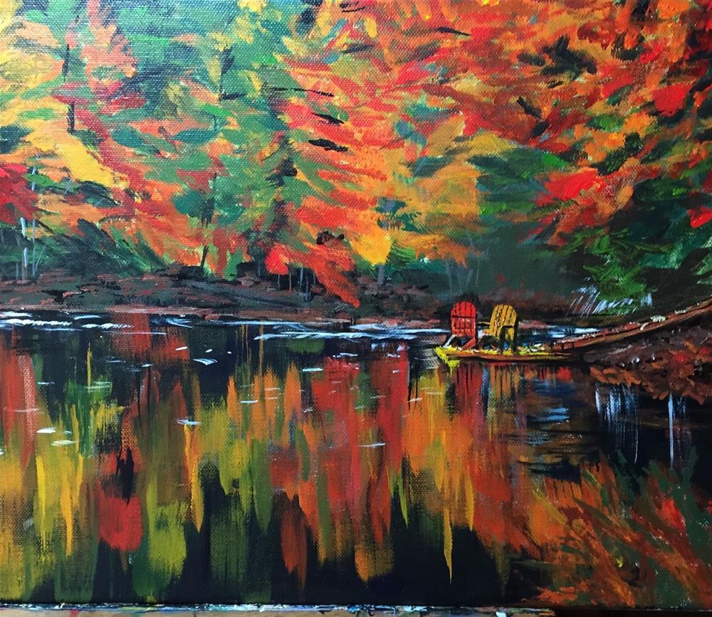 """October Lake"" original fine art by cheryl buhrman"