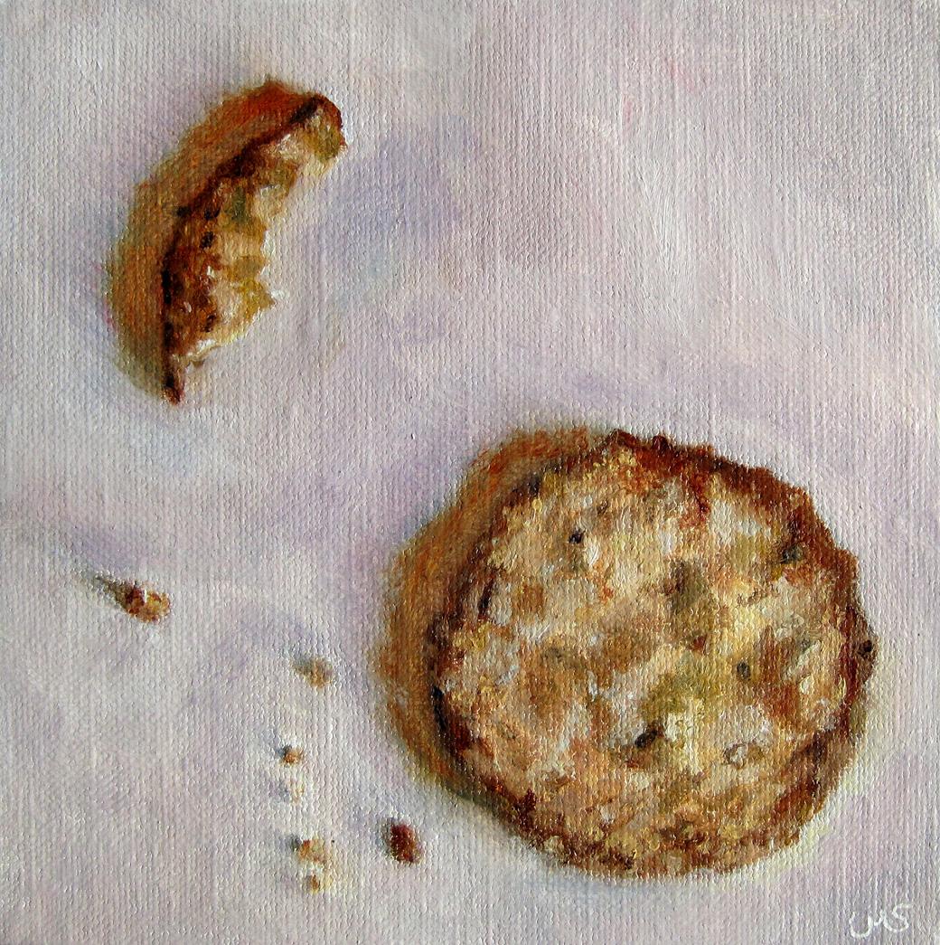 """Cookie and Crumbs"" original fine art by Ulrike Miesen-Schuermann"