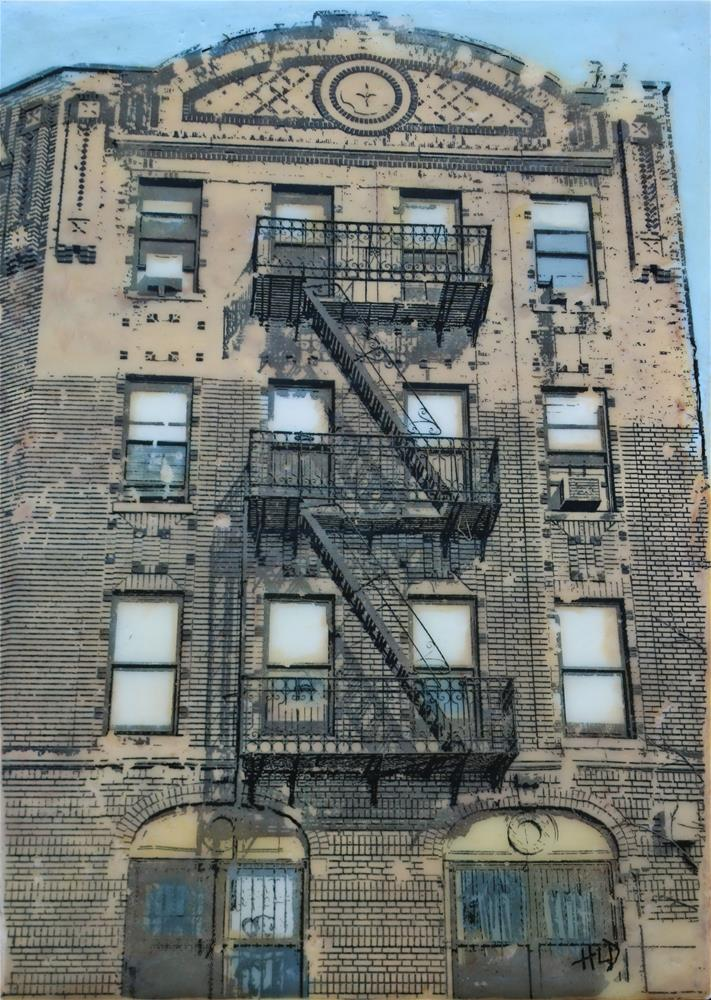 """Crown Heights Fire Escape"" original fine art by Heather Douglas"