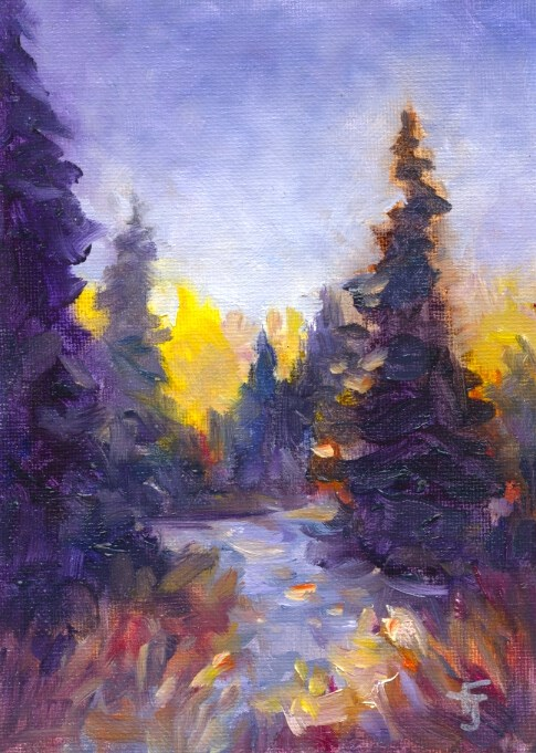 """Creekside"" original fine art by Francine Dufour~Jones"
