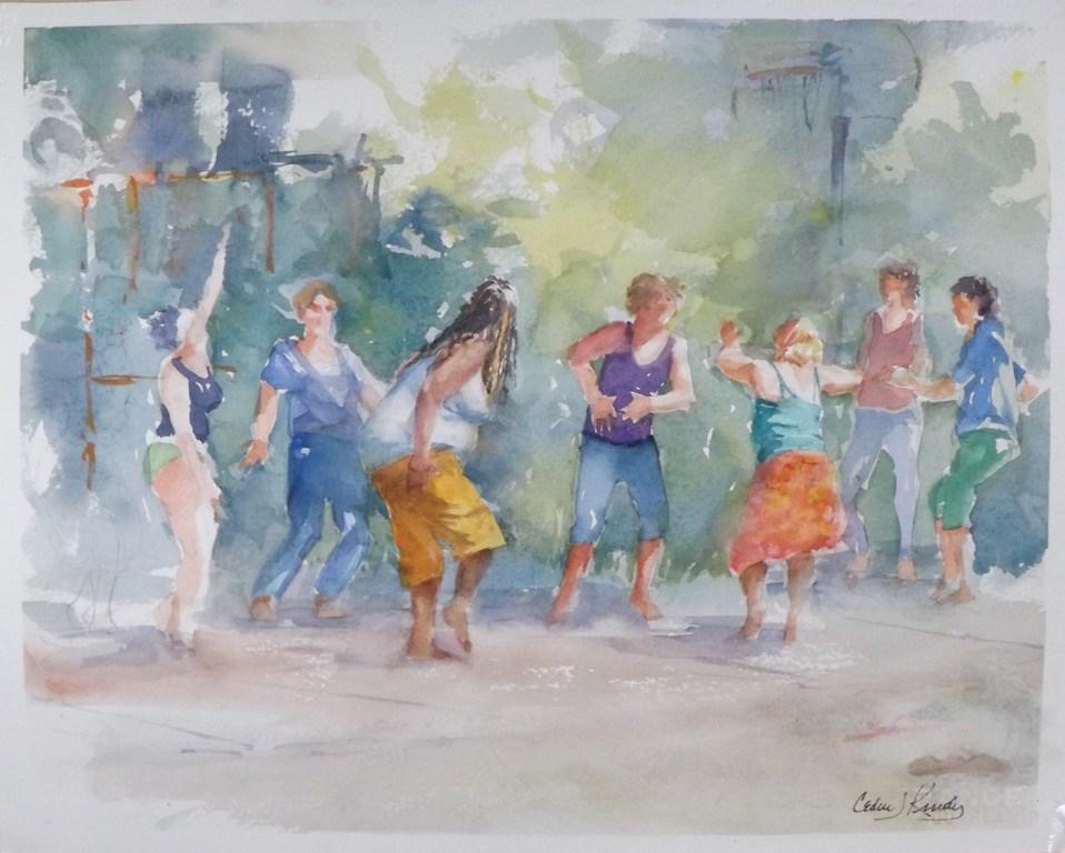 """Getting the groove on"" original fine art by Cedar Kindy"