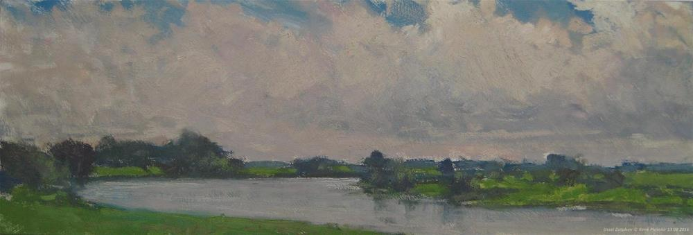 """IJssel. Zutphen, The Netherlands"" original fine art by René PleinAir"