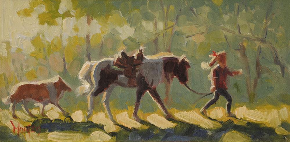 """""""Study #2, Julia's World"""" original fine art by Cecile W. Morgan"""