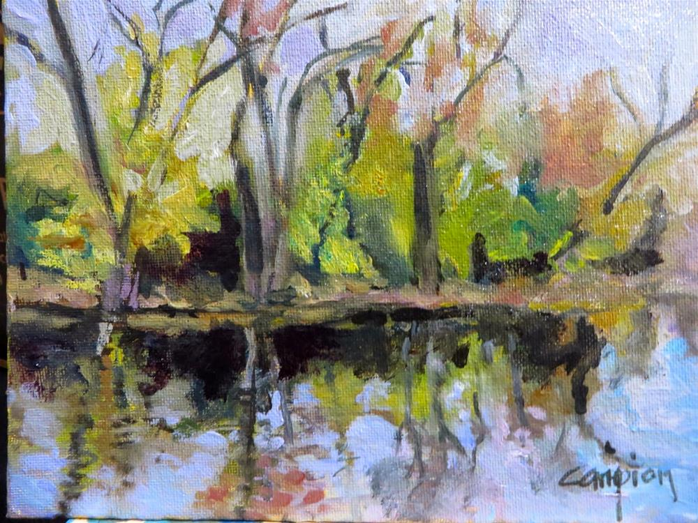 """616 Milwaukee River, Autumn"" original fine art by Diane Campion"