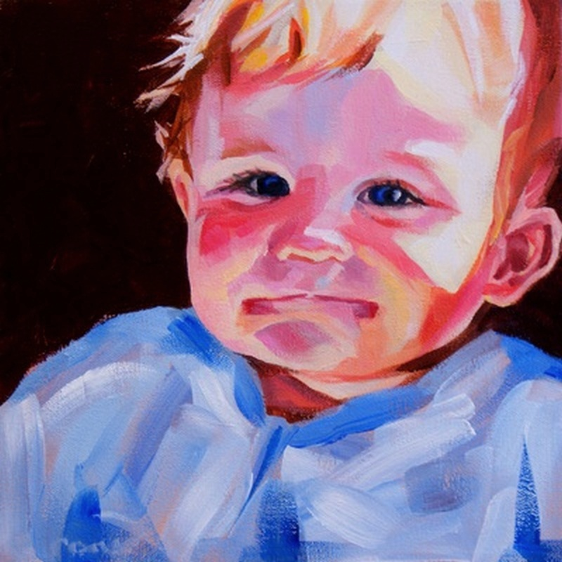 """Sunshine"" original fine art by Crystal Cook"