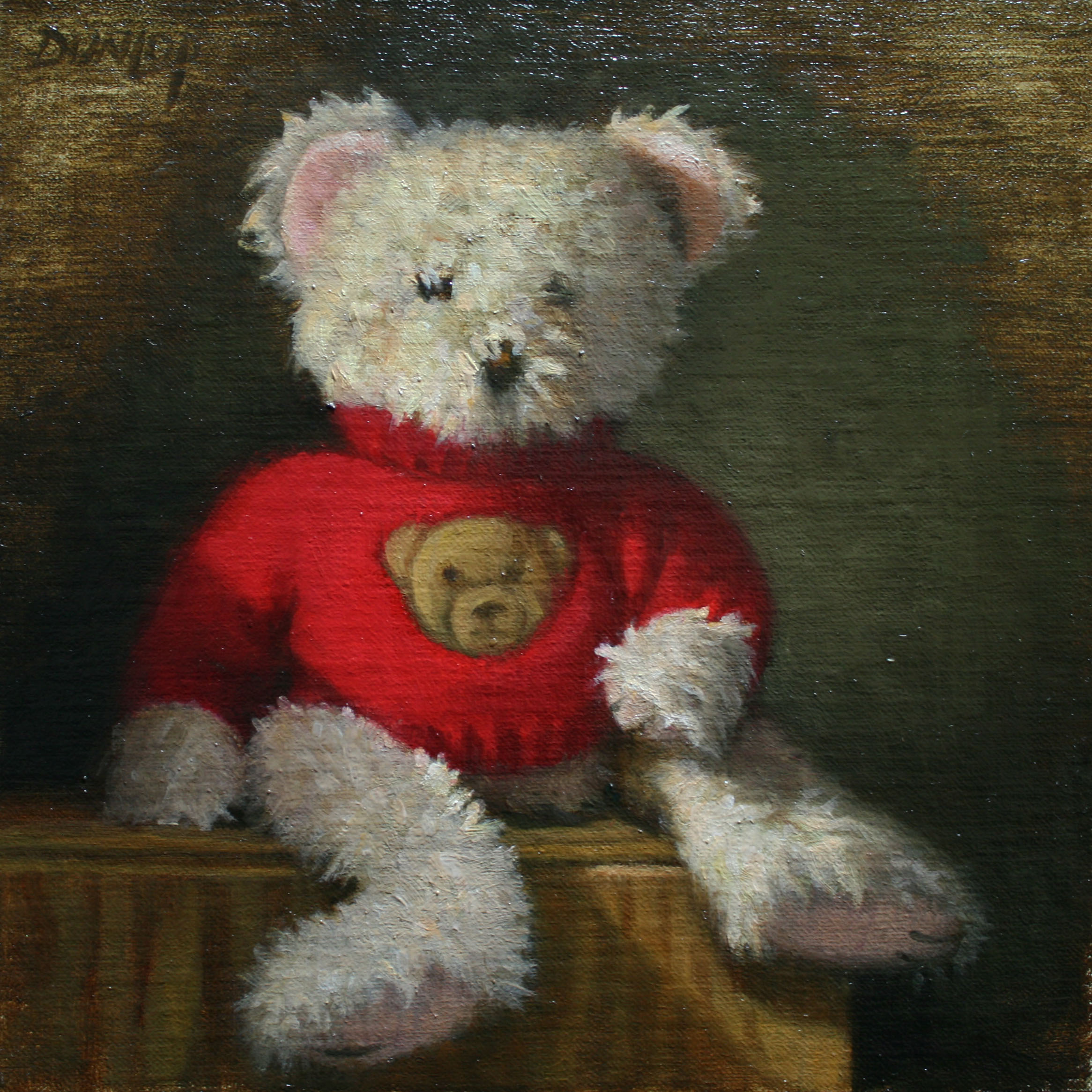 """BOM Bear"" original fine art by Bobbi Dunlop"