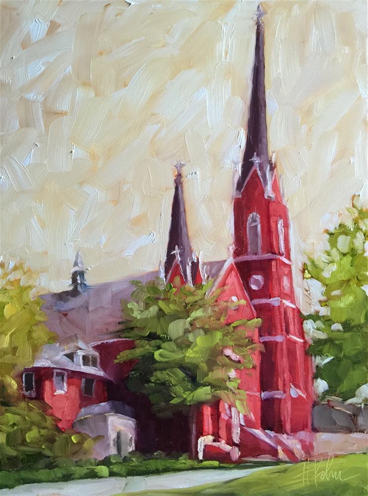 """St. Mary's"" original fine art by Hallie Kohn"