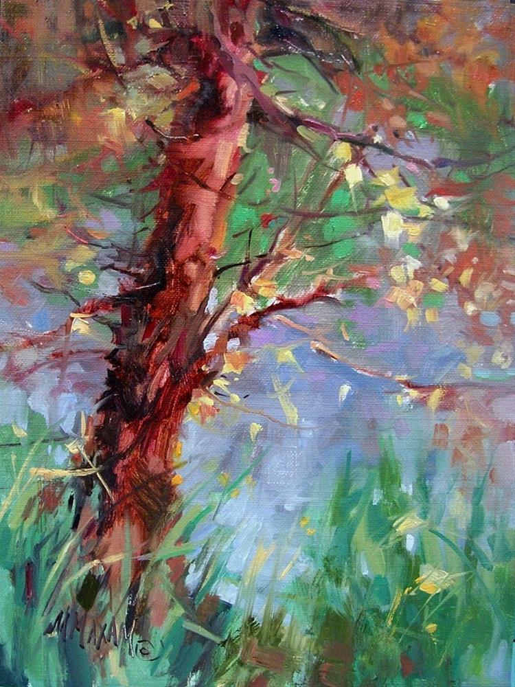 """Backyard Color"" original fine art by Mary Maxam"