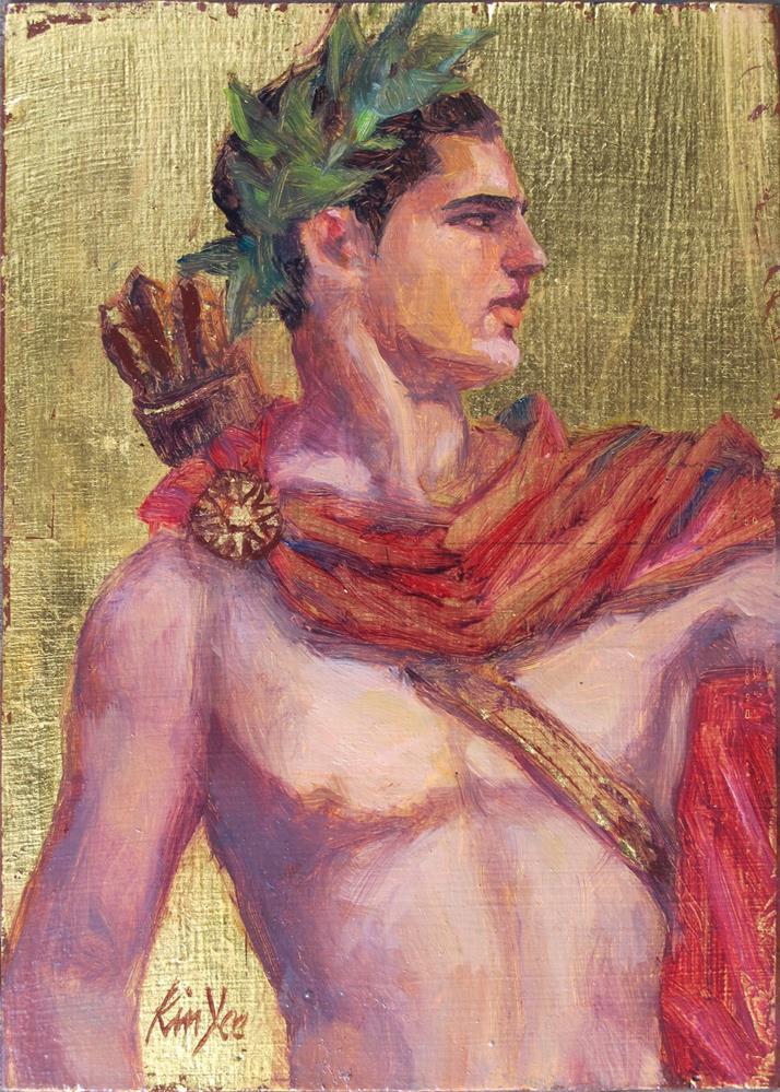 """James as Apollo"" original fine art by Myriam Kin-Yee"