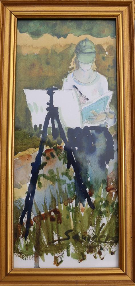 """""""Painting in Plein Air"""" original fine art by Michael Saunders"""