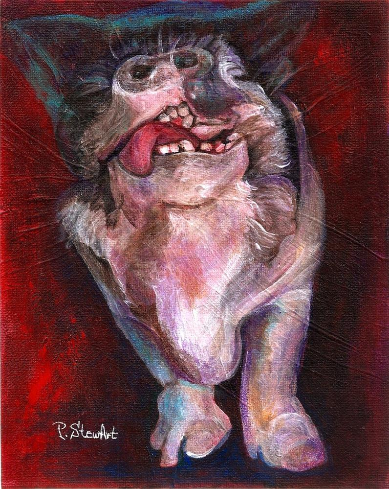 """8x10 Acrylic on Canvas BoardMiss Piggy a Pot Bellied Pig Painting original Art"" original fine art by Penny Lee StewArt"