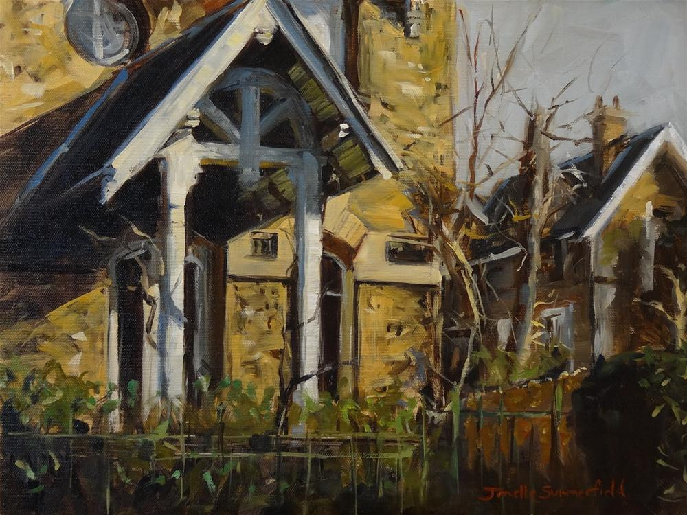 """Stone House in Versailles"" original fine art by Jonelle Summerfield"