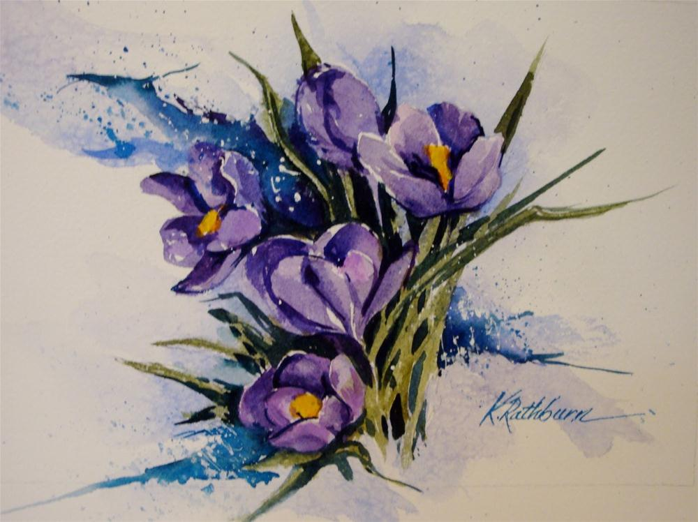 """Second Sign of Spring"" original fine art by Kathy Los-Rathburn"