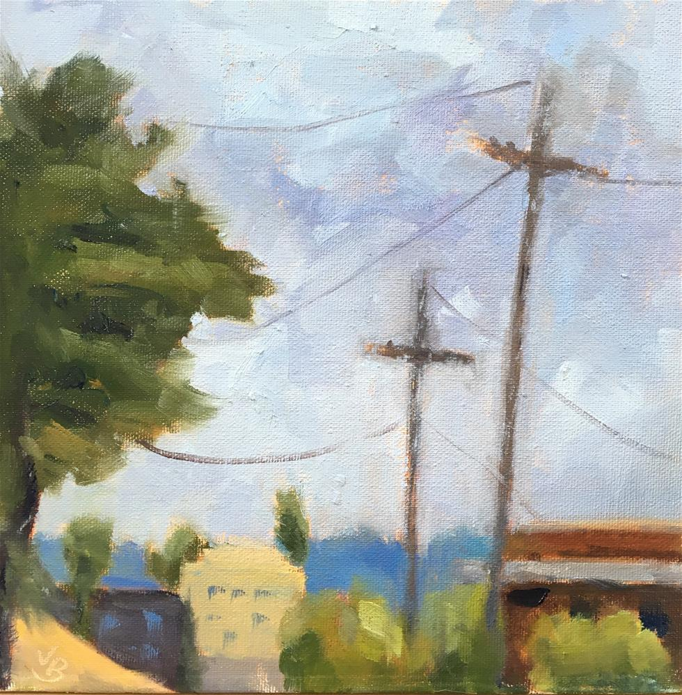 """""""View from a Parking Lot"""" original fine art by Victoria  Biedron"""