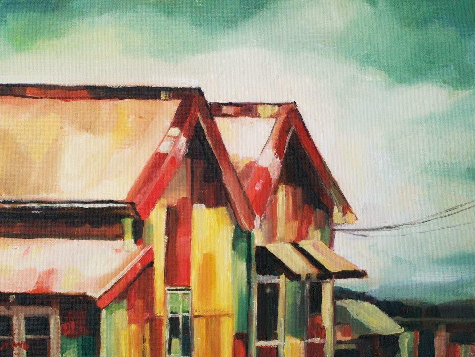 """House of Many Colors"" original fine art by Nava Judith"