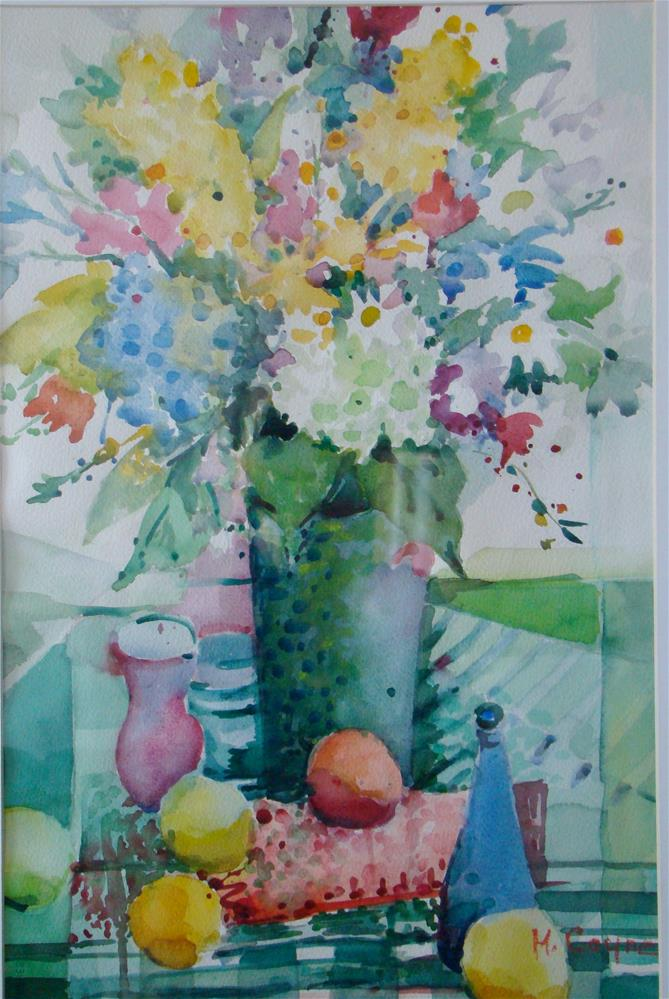 """Derry's flowers"" original fine art by meribeth coyne"