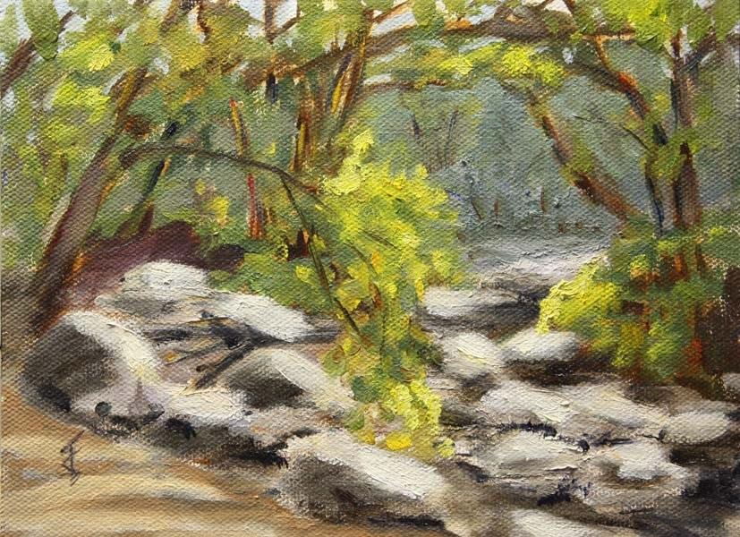 """Barton Creek - Dry"" original fine art by Jane Frederick"