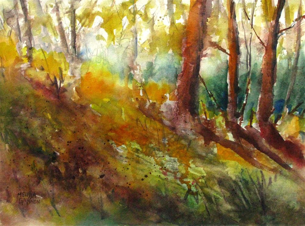 """Trees & Shadows"" original fine art by Melissa Gannon"