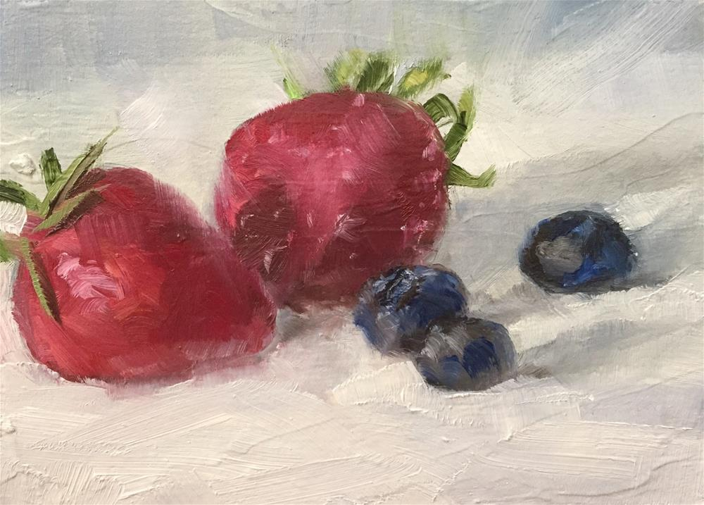 """""""Red, White, and Blue"""" original fine art by Gary Bruton"""