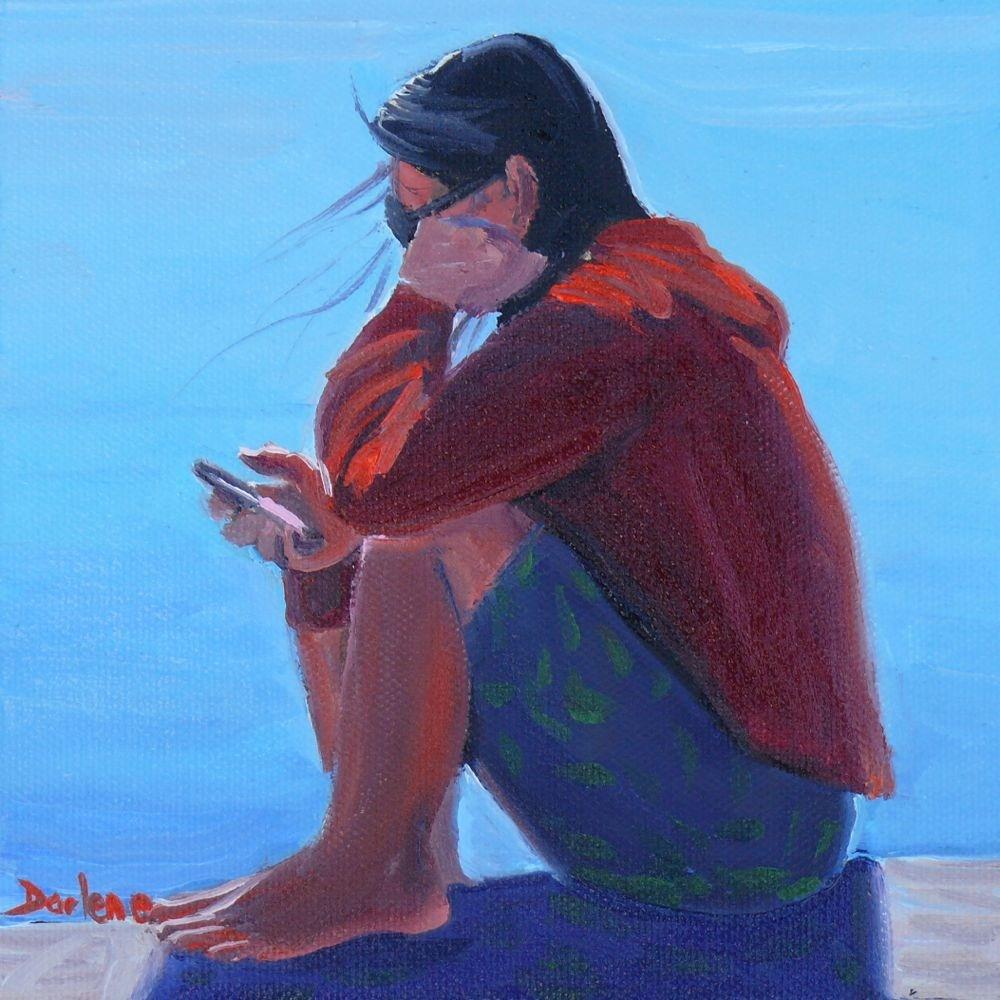 """The Babysitter"" original fine art by Darlene Young"
