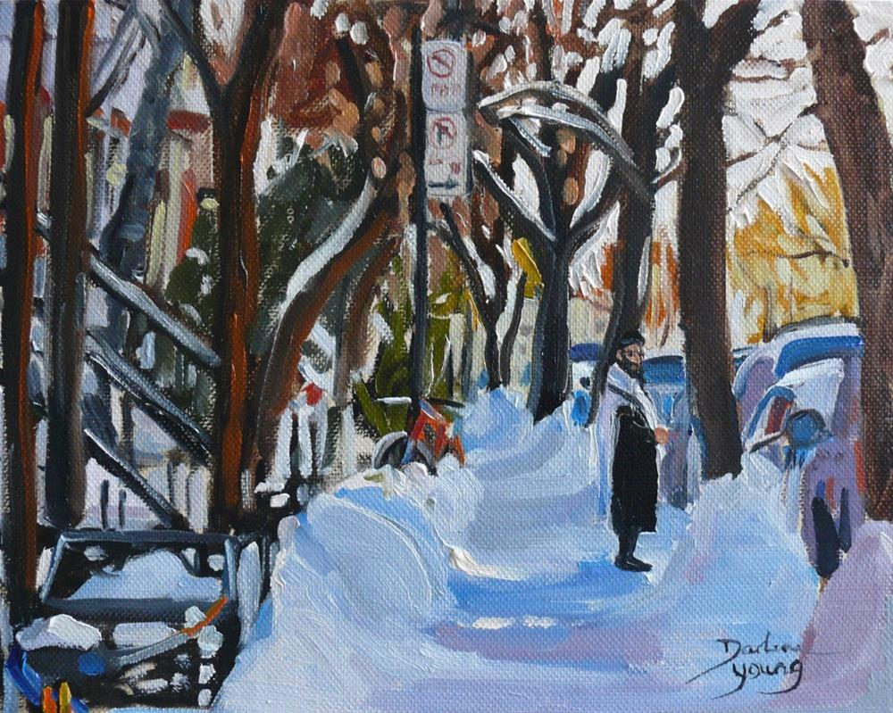 """888Montreal Mile End, oil on board, 8x10"" original fine art by Darlene Young"