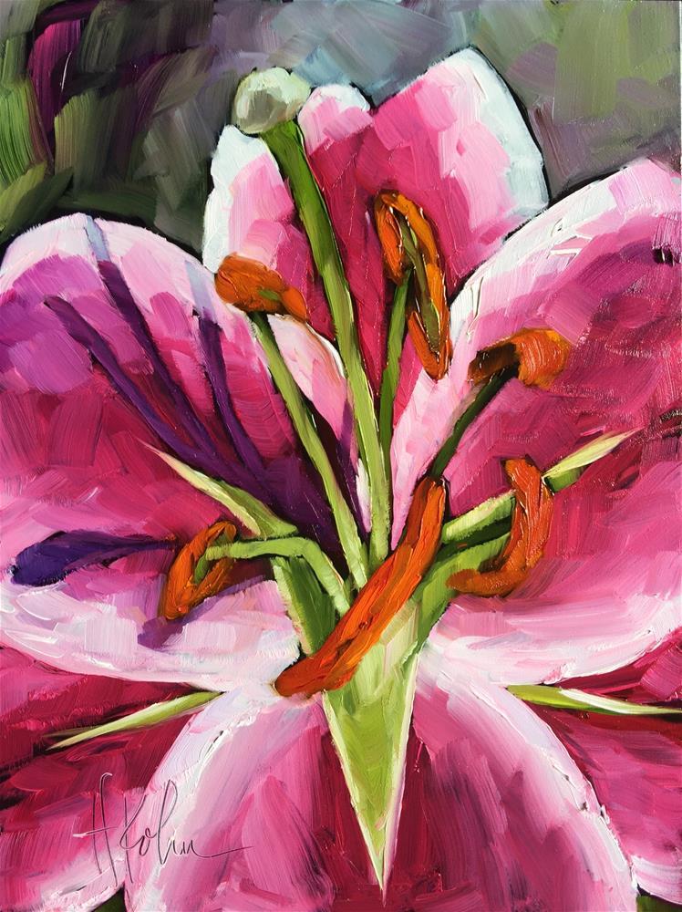 """""""Lily Stamen"""" original fine art by Hallie Kohn"""