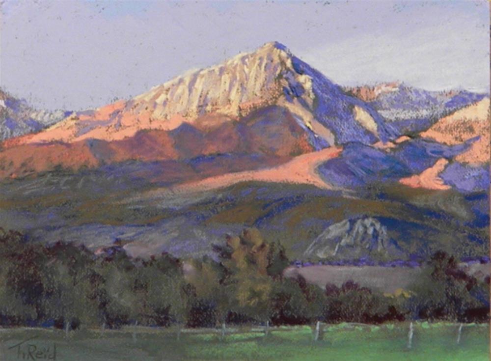 """""""Sierra sunset"""" original fine art by Toby Reid"""